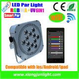 WiFi/DMX Wireless Control Rechargeable LED PAR met Battery