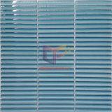 Mattonelle di mosaico di vetro verde chiaro (PT63)