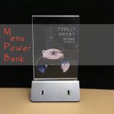 10000mAh Licht van de Tribune van de Vertoning van de Reclame van de Houder van het Menu van de Bank van de macht het Draagbare W/LED, Veelvoudige het Laden van de Lader van de Batterij van 4 X USB Externe Post voor het Restaurant van de Koffie