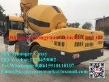 新しいデザイン熱い販売のディーゼル携帯用小型建設用機器350Lの移動式具体的なコンクリートミキサー車のトラック機械