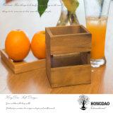 Rectángulo de empaquetado de madera de Hongdao con la vendimia Design_D