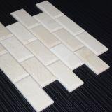 Beige buena calidad pulido de ladrillo mosaico para baño Azulejo