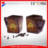 Tazza di ceramica del quadrato all'ingrosso degli articoli per la tavola con la maniglia