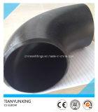バットによって溶接される90deg Sch40の継ぎ目が無い炭素鋼の管の肘