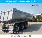 덤프 세미트레일러 또는 쓰레기꾼 트럭 트레일러를 반 기울이는 3 차축