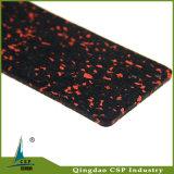 Couvre-tapis en caoutchouc de roulis d'étage de gymnastique élastique