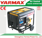 Gruppo elettrogeno diesel raffreddato aria a basso rumore del blocco per grafici aperto del motore diesel di Yarmax Genset Ym6500eb-I