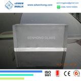 Mattone di vetro trasparente solido glassato radura decorativa per la parete di vetro