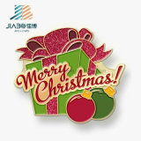 工場卸売価格のペンキのEmojiのクリスマスのギフトの金属の折りえりPin