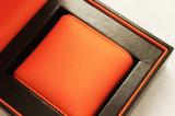 Caixa de relógio plástica de couro do plutônio da laranja feita sob encomenda