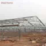 Azienda agricola di pollo chiara della struttura d'acciaio con le attrezzature agricole