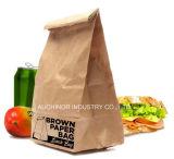 Bolsas de papel impresas aduana del embalaje del pan francés Kraft