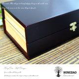 Doos van het Horloge van de Douane van Hongdao de Houten met Verdelers Wholesale_F