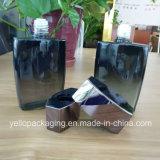 De zwarte Kosmetische Fles van het Glas