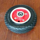 7X1 7X1.5 7X2 Rollstuhl-fester Gummipolyurethan-Schaumgummi-Gummireifen-Reifen u. Räder mit Gabel