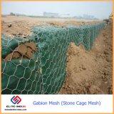 金網のGabion石造りのボックスを囲うGabionの網ワイヤー