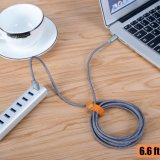 Tipo cable de la fábrica de China de datos del USB de C con el nilón tejido para el tipo dispositivos de C