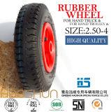 손수레 타이어 트롤리 타이어 압축 공기를 넣은 무덤 피마자 바퀴 2.50-4