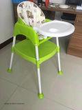 3 em 1 cadeira alta de plástico PP para jantar de bebé