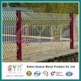 PVC上塗を施してある3D曲線の塀のパネルの/Bendingの塀の金網