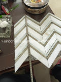 Ванная комната плакирования стены мрамора золота Calacatta наградной ранга итальянская кроет мозаику черепицей дешево