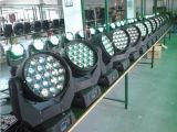 19PCS 15W RGBW LED bewegliches Hauptwäsche-Licht mit lautem Summen