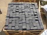 제조자 정원사 노릇을 하거나를 위해 까만 현무암 메시 돌 돌 포장 정원 또는 차도