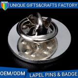 Pin de revers en métal d'époxy de forme ronde de Customed en alliage de zinc