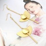 사슬 긴을%s 가진 여자를 위한 둥근 반원 관 하락 귀걸이는 귀걸이를 매단다
