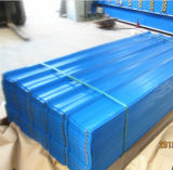 SGCC、Dx51d、JISのASTM/Steelの塗られる物質的な波形の鋼板の鋼鉄屋根瓦のPE PVDF