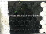 Mosaico di striscia di marmo nero
