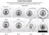 Decoração de mesa personalizada Relógio de cristal para presente comercial