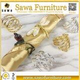 Anelli di tovagliolo di lusso di vendita caldi dell'oro di nuovo stile di alta qualità