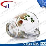 Glasbecher der Qualitäts-360ml mit Decaled Blume (CHM8077)