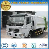 Modèle neuf 125HP de roues de Dongfeng 6 8 tonnes de compresse d'ordures et camion de transport