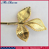 Pin de Bobby feito da forma de folha da embalagem no ouro do chapeamento