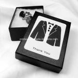 Caisse d'emballage de bijou de cadeau de Storge de bouton de manchette de papier du carton Jy-Cub14