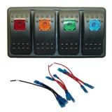 방수 자동 차 차량 LED 빨간 파란 가벼운 Swtich