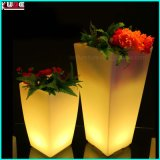 LED Flower Pots Plastic Cashepot Outdoor LED Garden Light