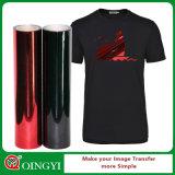 Precio de fábrica de Qingyi y la calidad más grande del traspaso térmico metálico del vinilo para la ropa