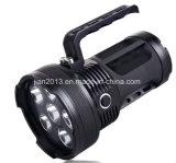 6X6W Batería Recargable 395nm mano linterna LED UV para la caza de ámbar