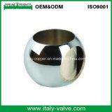 La valvola a sfera femminile d'ottone dell'acqua con ondula la maniglia (AV10055)