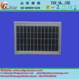 Panel de células 18V 10W Poli Solar para el sistema de 12V (2017)