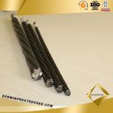 Brin non-enduit de fil d'acier de tension du poste 1X7 de la pente 270