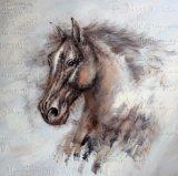 Pintura al Óleo de una cabeza de caballo