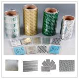 Lámina de blíster de aluminio de la PTP 20-30 micras para embalaje de la píldora de la lámina de farmacia 8011