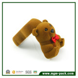 Cute Bear Style Flocando Jóias Gift Box