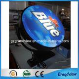 Tourner en rond en acrylique moulé Boîte à lumière de l'écran (GV-ALB)