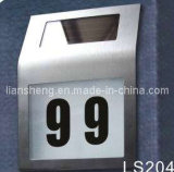 Número de casa solar do aço inoxidável