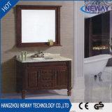 Античная тщета ванной комнаты твердой древесины шкафа ванны пола